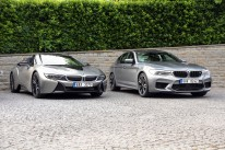 BMW M5 in i8 roadster